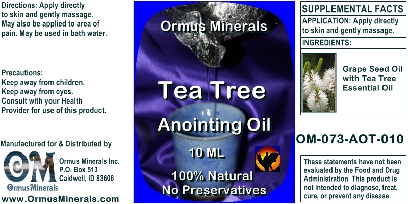 Ormus Minerals Tea Tree Anointing Oil 10 Ml